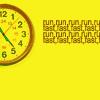 yellow avatar clock