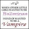 Ballerinas VS. Vampires